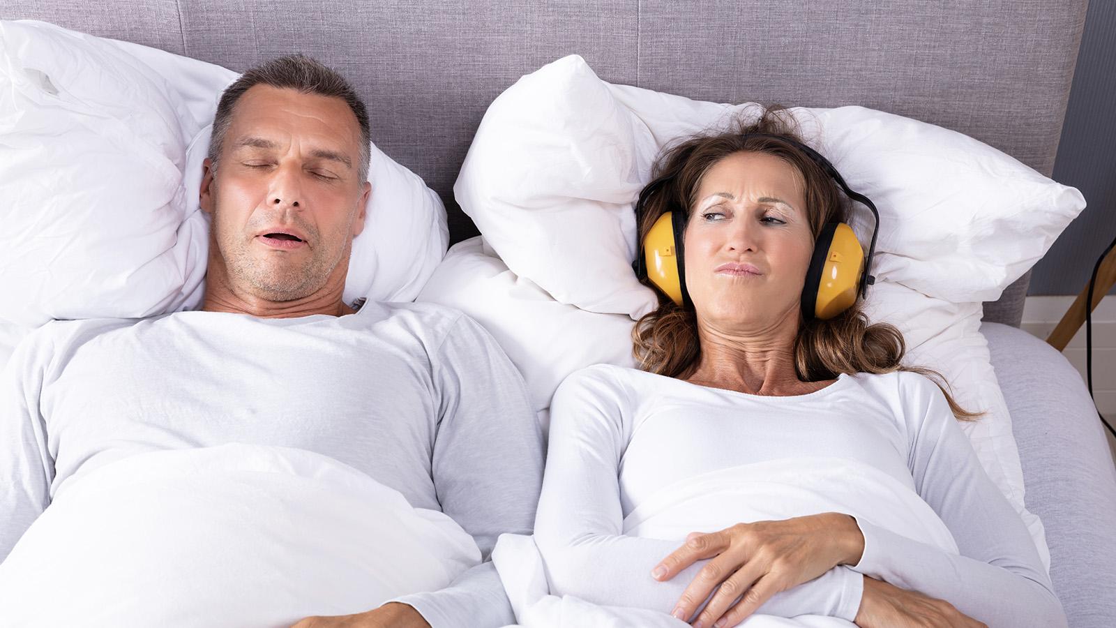Ruhiger Schlaf bei obstruktive Schlafapnoe
