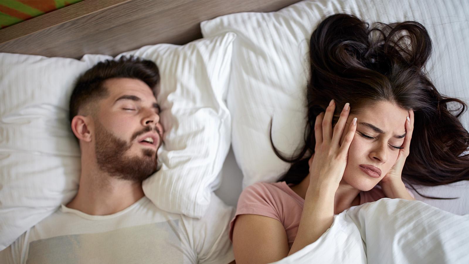 Schnarchen als Symptom bei Schlafapnoe